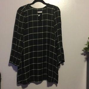 Checkered Loft Dress Black and White